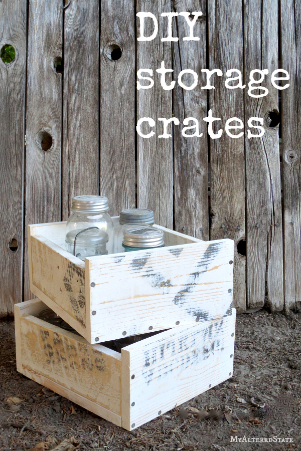 DIY Wood Storage Crates by My Altered State