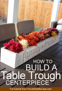 How To Build A Table Trough