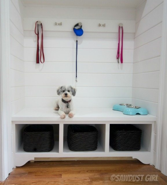 Mudroom Storage Bench and Cabinets