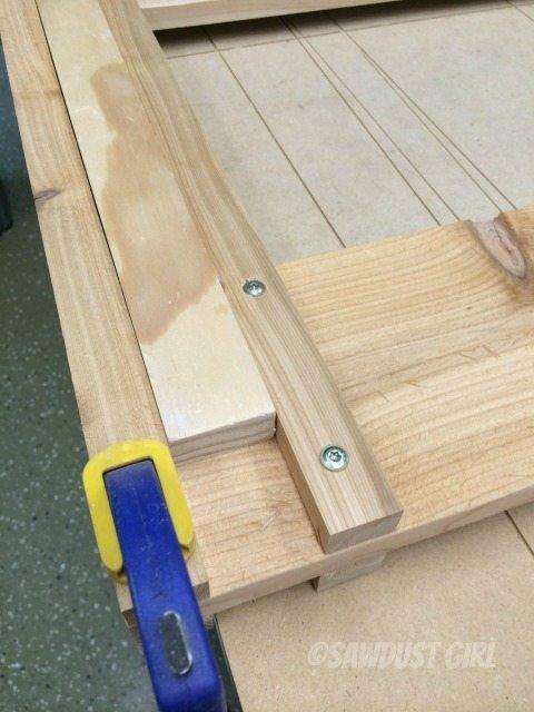 step 6 - add shelf for bin on both sides of sides 2 & 3