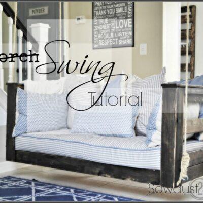 Porch Swing Tutorial