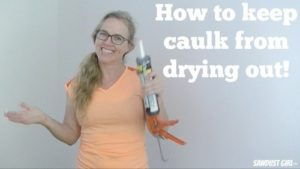 Easy tip for keeping your caulk from drying out
