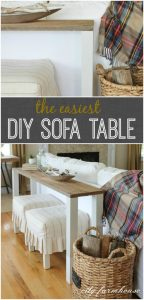 DIY Wood Sofa Table