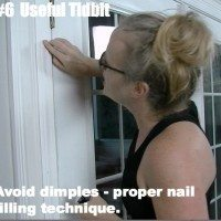 Fill nail holes so you don't see dimples.