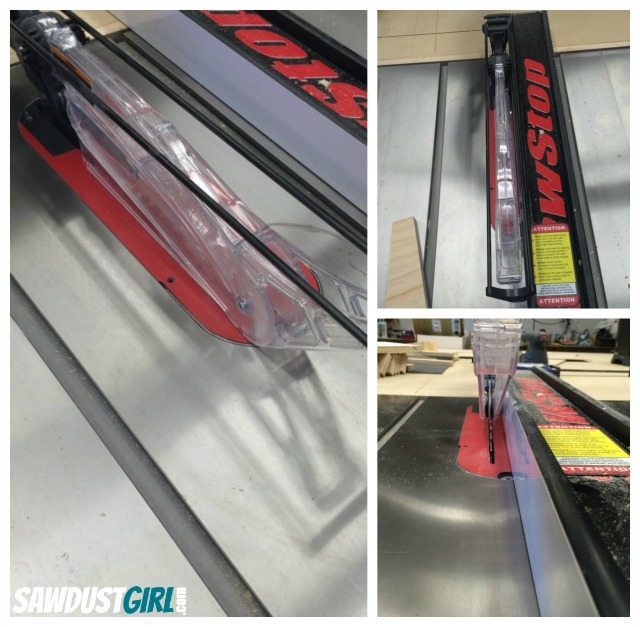 Remove blade guard to use Micro Jig Grr-ripper