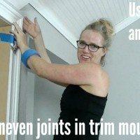 fixing uneven moulding joints