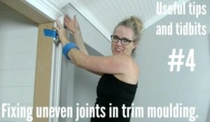 Fixing uneven joints in trim moulding
