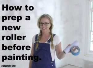 How to prep a new paint roller before painting