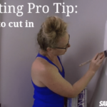 """How to """"cut in"""" around molding when painting"""