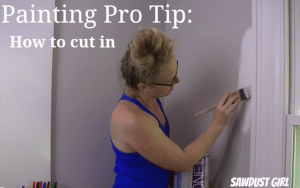 "How to ""cut in"" around molding when painting"