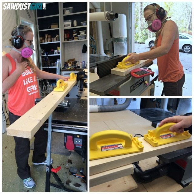 Using a jointer to prepare wood