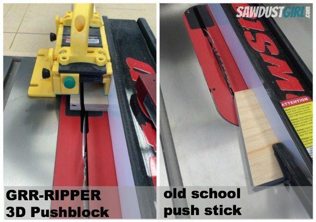push stick- block comparison