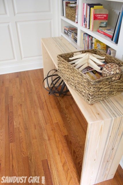 Rustic Contemporary Entry Table