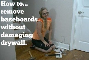 How to remove baseboards without damaging drywall- Short and Sweet