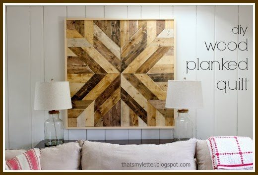 Diy Wood Planked Quilt Sawdust Girl 174