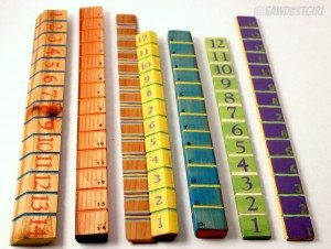 DIY Gift Idea:  Handmade Rulers