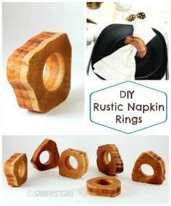 DIY Rustic Wood Napkin Rings