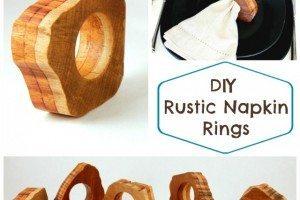 DIY Rustic Wood Napkin Rings