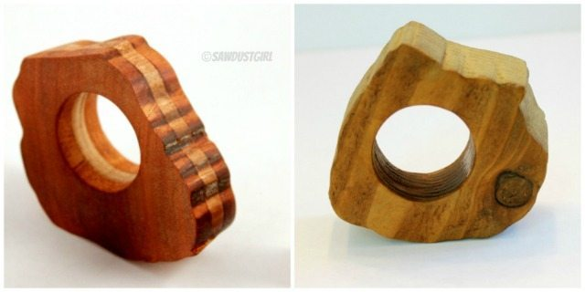 Plain and laminated napkin rings