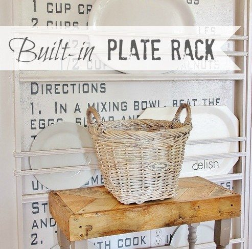 Built-in Plate Rack