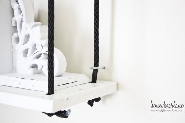 Diy Rope Shelves