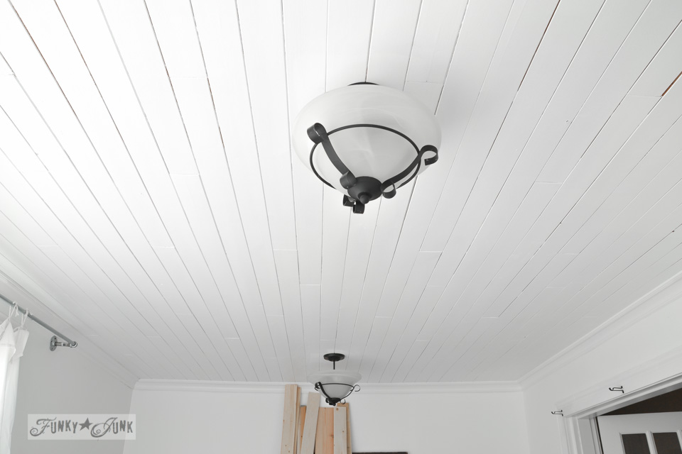 DIY Planked Ceiling