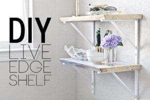 Live Edge Shelf Tutorial