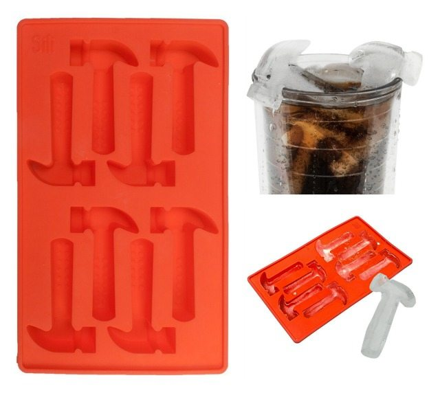 Gift ideas for DIY'ers - Hammer shaped ice cube tray