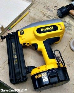 DeWalt Battery Powered Nail Gun — workshop favorite