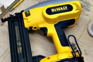 Battery Powered nail gun.