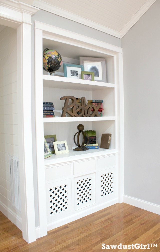 Built-in Bookshelf Dog Crate