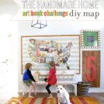 DIY Art Book Map