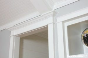 Bedroom Hallway Reveal with new trim moulding