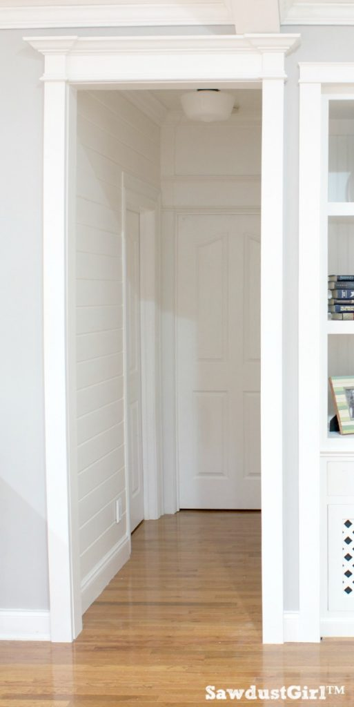 Hallway trim moulding