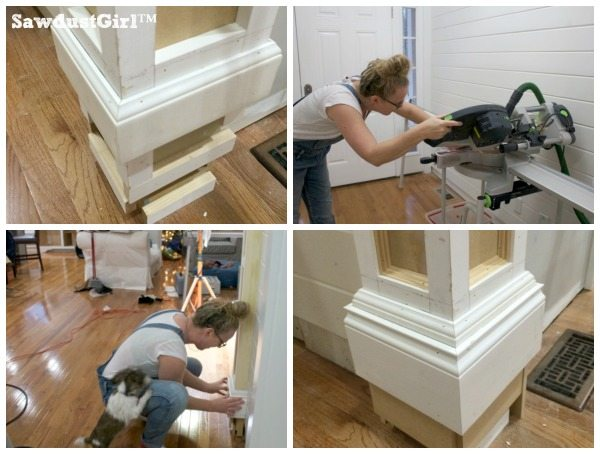 How to build decorative columns in a doorwaymiter corners