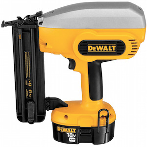 DeWalt battery powered nail gun