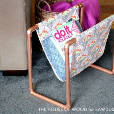 Copper Pipe DIY Magazine Rack
