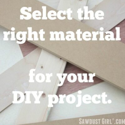 Selecting the right types of wood for your DIY project