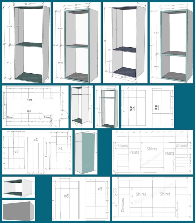 Plans To Make A Wardrobe ~ Master closet plans sawdust girl
