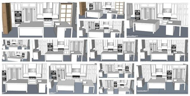 Kitchen design option drawings