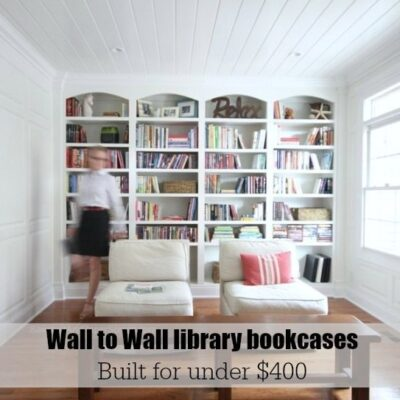 Library wall to wall bookcases – Bookcase Plans