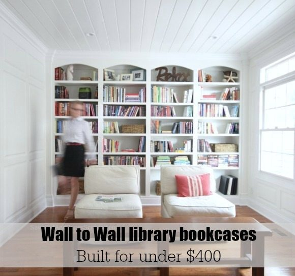 Library Wall To Wall Bookcases Free Plans Sawdust Girl 174
