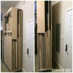 Narrow Rolling Wood Storage Cart