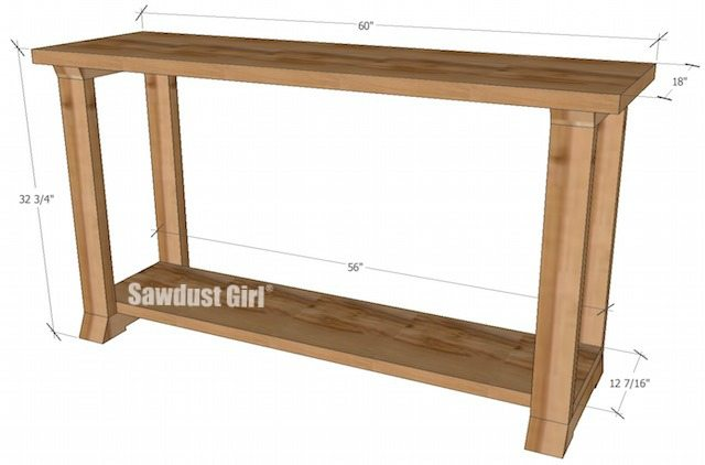 Box Console Table ~ Console table woodworking plans sawdust girl