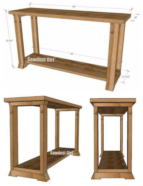 Console Table Woodworking ~ Console table woodworking plans sawdust girl