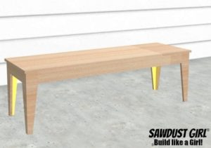 Tapered Leg Bench – Easy DIY Project Build