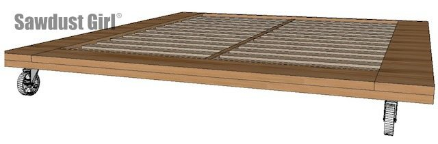 Perfect Industrial platform bed free and easy project plans from https sawdustgirl