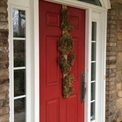 Moss and Burlap Valentine Wreath