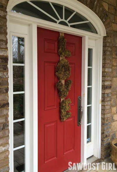 Moss and Burlap L-O-V-E Wreath