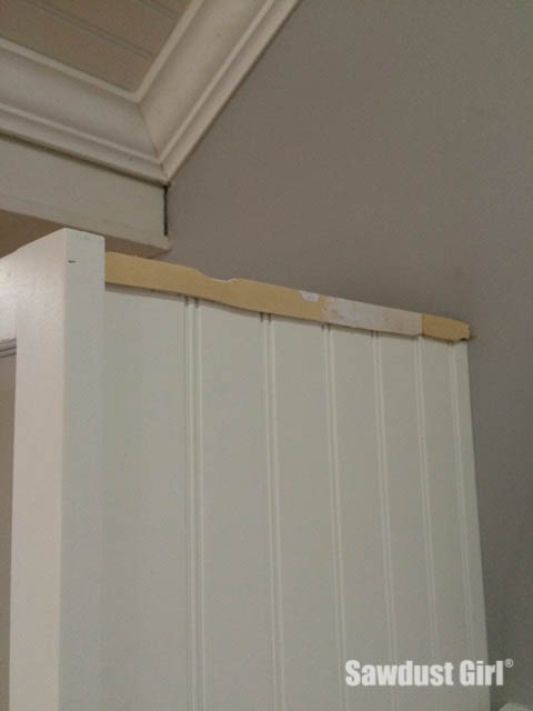 How to Install Crown Molding on Kitchen Cabinets - Sawdust Girl®